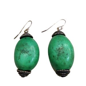 Vintage genuine turquoise and sterling earrings
